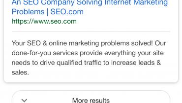 "Google testeaza oficial butonul ""More results"""